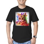 Colorful Cat Men's Fitted T-Shirt (dark)