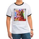 Colorful Cat Ringer T