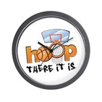 Hoop... There It Is Wall Clock