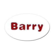 Barry Santa Fur 20x12 Oval Wall Decal