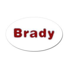 Brady Santa Fur 20x12 Oval Wall Decal