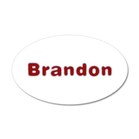 Brandon Santa Fur 20x12 Oval Wall Decal