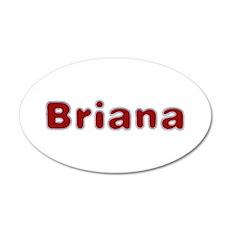 Briana Santa Fur 35x21 Oval Wall Decal