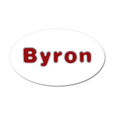 Byron Santa Fur 20x12 Oval Wall Decal