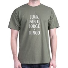 El Fab Quatro T-Shirt Military Green