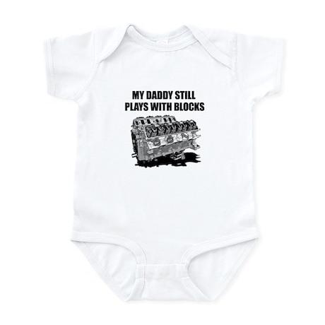 My Daddy Plays w/Blocks Infant Bodysuit