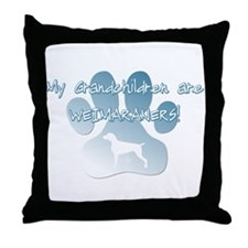 Weimaraner Grandchildren Throw Pillow