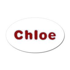 Chloe Santa Fur 20x12 Oval Wall Decal