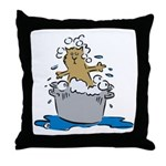Cat Bath II Throw Pillow