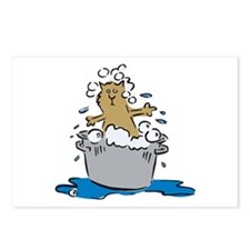 Cat Bath II Postcards (Package of 8)
