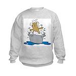 Cat Bath II Kids Sweatshirt