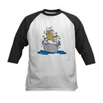 Cat Bath II Kids Baseball Jersey