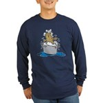 Cat Bath II Long Sleeve Dark T-Shirt