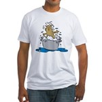 Cat Bath II Fitted T-Shirt