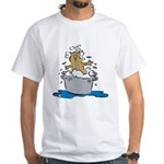 Cat Bath II White T-Shirt