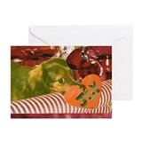 Longhaired Dachshund Holiday Cards (10 Pk)