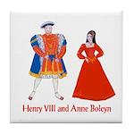 Henry VIII & Anne Boleyn Tile Coaster