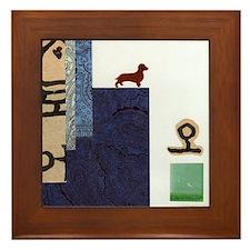 Zen Dachshund: dox-ZEN Framed Tile
