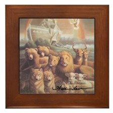 """Noah's Ark"" The Promise Fine Art Framed Tile"