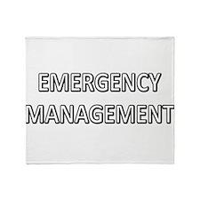 Emergency Management - White Throw Blanket