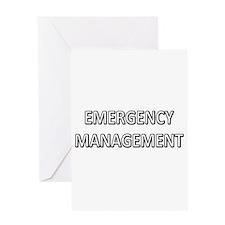 Emergency Management - White Greeting Card