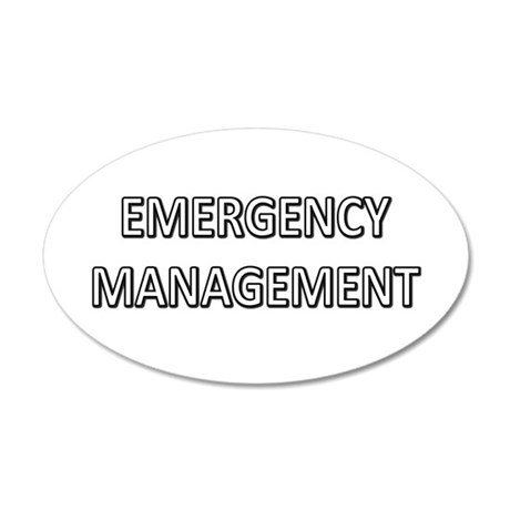 Emergency Management - White 20x12 Oval Wall Decal