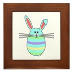Easter Egg Bunny Framed Tile