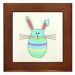 Easter Egg Bunny Framed Tile