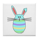 Easter Egg Bunny Tile Coaster