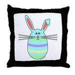 Easter Egg Bunny Throw Pillow