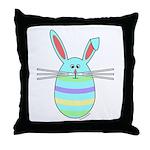 Easter Egg Bunny Throw Pillow