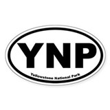 Yellowstone National Park Oval Bumper Stickers