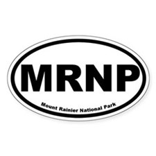 Mount Rainier National Park Oval Decal