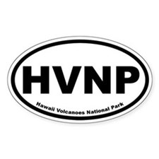 Hawaii Volcanoes National Park Oval Decal