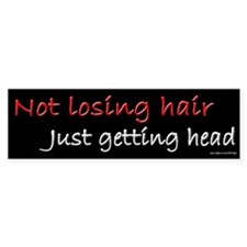 Not Losing Hair Getting Head Bumper Car Sticker