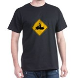 Snowmobile Warning - USA T-Shirt