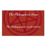 The Philosopher's Stone Rectangle Sticker