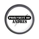 Property of Andres Wall Clock
