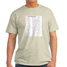 Physics Cheat Sheet Ash Grey T-Shirt