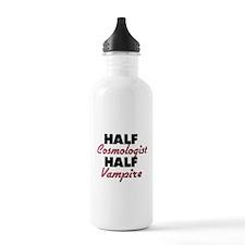 Half Cosmologist Half Vampire Water Bottle