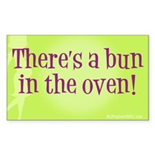Bun in oven Rectangle Decal