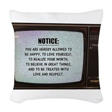 You are Hereby Allowed | Woven Throw Pillow