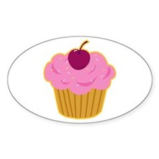 Cupcake Sticker! (Oval)