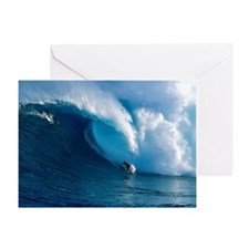 Big Wave Surfing Greeting Card