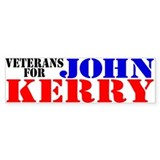 Veterans for Kerry Bumper Car Sticker