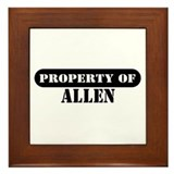 Property of Allen Framed Tile