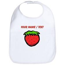 Custom Strawberry Cartoon Bib