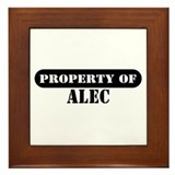 Property of Alec Framed Tile