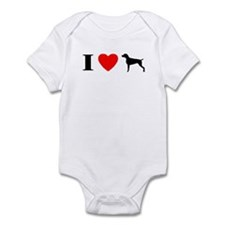 I Heart Weimaraner Infant Bodysuit