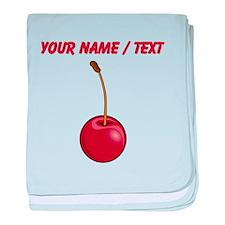 Custom Red Cherry baby blanket